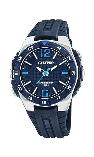Calypso Watches Reloj Analógico para Hombre de Cuarzo con Correa en Plástico K5778/3: Amazon.es: Relojes