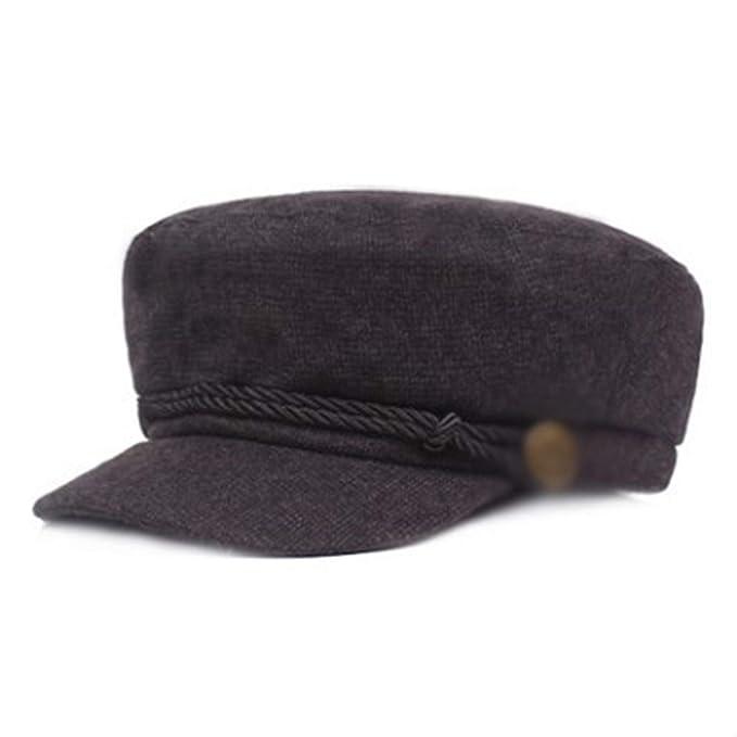 2091a1ff354 Elegant Newsboy Caps Fashion Flat Cap for Men and Women Sombrero Autumn Winter  Men s Army Hat