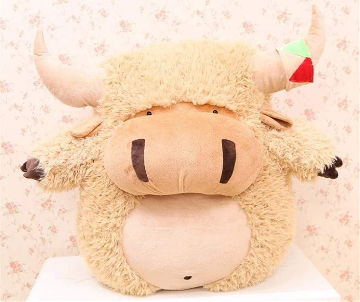 DOUFUZZ SNHPP Vaca Demonio Rey Muñeca Lindo Hold Almohada Plus Juguete Cumpleaños Regalo Chica 48 cm Marrón