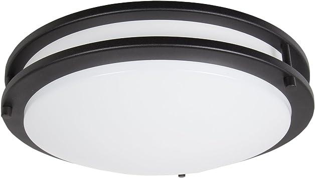 Maxxima 14 Black Led Ceiling Mount Light Fixture Warm White 1650 Lumens Dimmable Flush Mount 3000k Amazon Com Musical Instruments