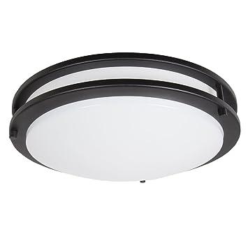 Maxxima 14 black led ceiling mount light fixture warm white 1650 maxxima 14quot black led ceiling mount light fixture warm white 1650 lumens dimmable mozeypictures Choice Image