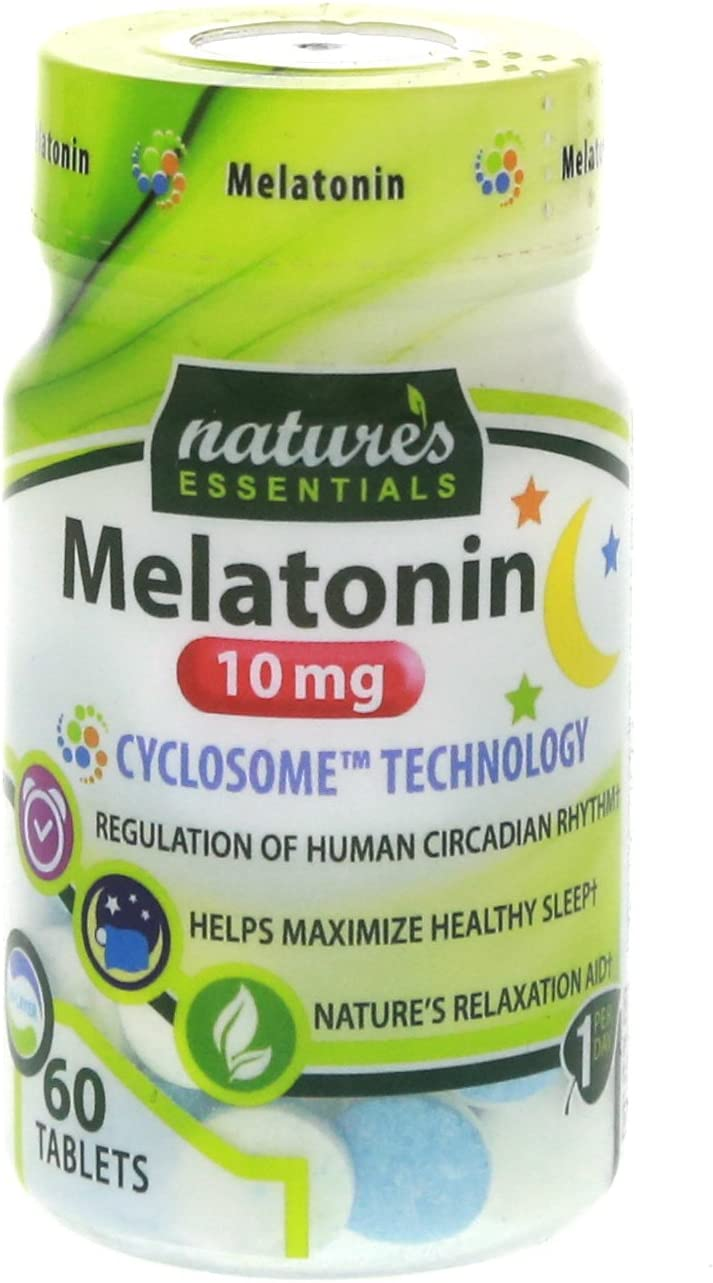 Nature's Essentials Melatonin 10mg (3mg Immediate Release & 7mg Extended Release) with Advanced Cyclosome Liposomal Delivery Technology - 60 Tablets