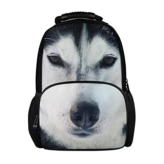 e20b0ecaebbb Youngerbaby 3D Cool Wolf Print 14 Inch Laptop Backpack for Boys