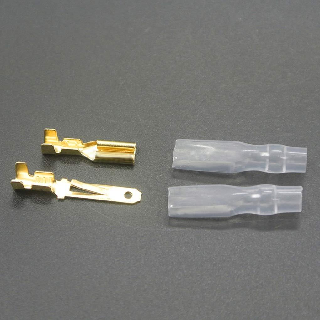 Lorsoul 200pcs 50 Paare M/ännlich Weiblich Crimp-Draht-Verbindungsflachstecker-H/ülsen-Verpackungs-16-22 AWG 2.8mm