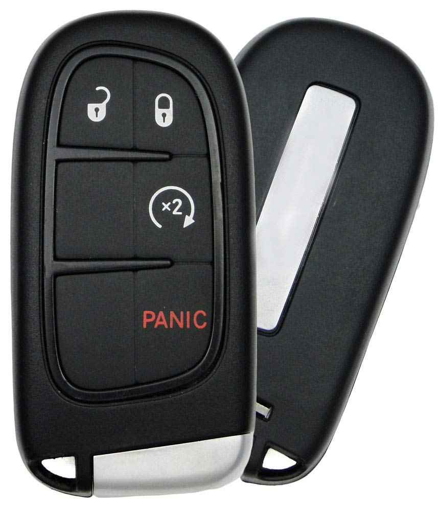 AutofitPro Zinc Alloy Metal Smart Remote Key Fob Protector Cover Case for Jeep Cherokee Silver