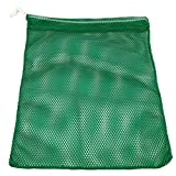 SGT KNOTS Mesh Bag USA Made (Small) 550 Paracord Drawstring Bag - Ventilated Washable Reusable Stuff Sack for Laundry, Gym Clothes, Swimming, Camping, Diving (15 inch x 22 inch - Kelly Green)