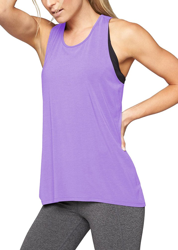 122d8a9ca82 Mippo Women Juniors s Workout Tops Fashion Shirt 2019 Sports Clothing Loose  Fit Racerback Gym Yoga Tank Tops Sleeveless Yoga Running Muscle Tank  Athletic ...