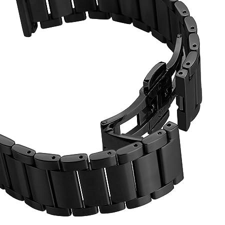 Hoco - Correa para Huawei Watch, de acero inoxidable con cierre sin hebilla
