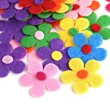 Coopay 240 Pieces Felt Flowers Fabric Flower