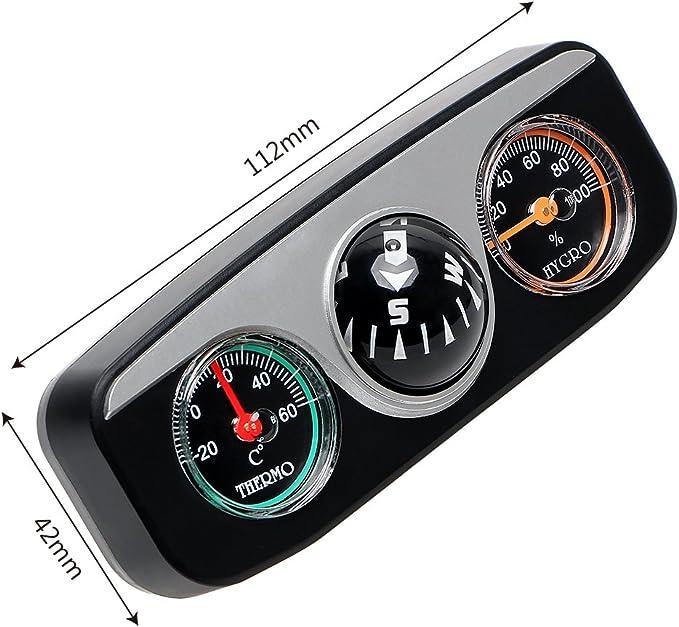 Amazon.es: Holdream Termómetro de brújula de navegación para coche ...