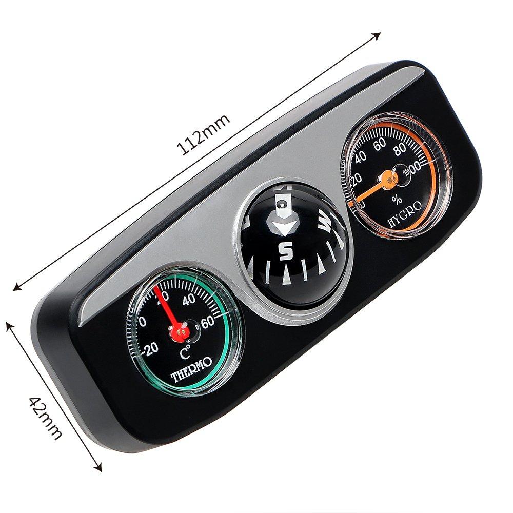 da6cd80ae Amazon.es: Holdream Termómetro de brújula de navegación para coche o barco
