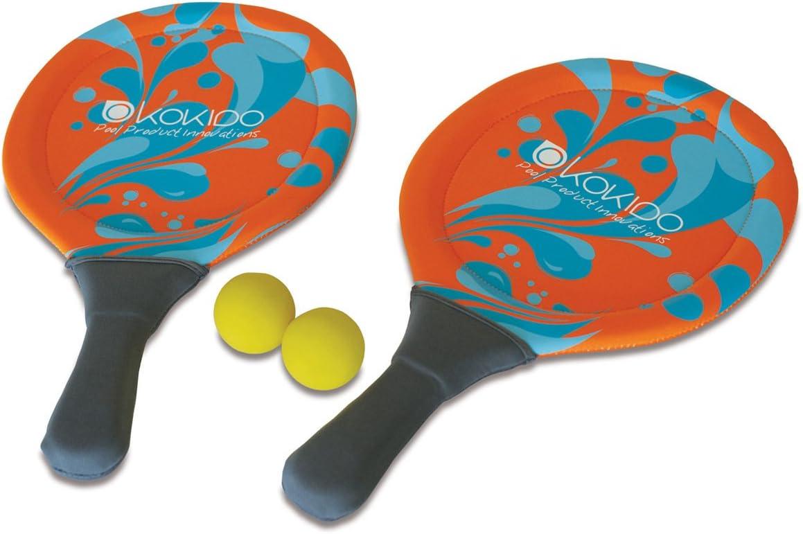 Kokido - Set de 2 palas y 2 pelotas de neopreno para jugar en la ...