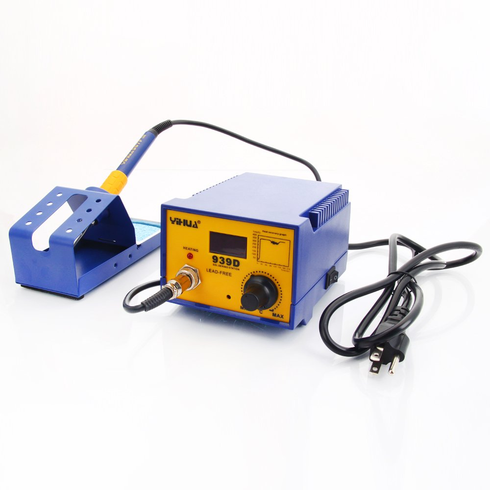Weller Wlc 100 Temperature Controlled Soldering Station Yihua 939d 80w 110v Constant Antistatic Solder Rework Iron Handle With Base Holder