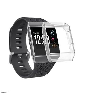 Wearlizer para Fitbit Ionic - Funda, silicona suave claro Carcasa protector de pantalla Accesorios para el reloj inteligente Fitbit iónico: Amazon.es: ...