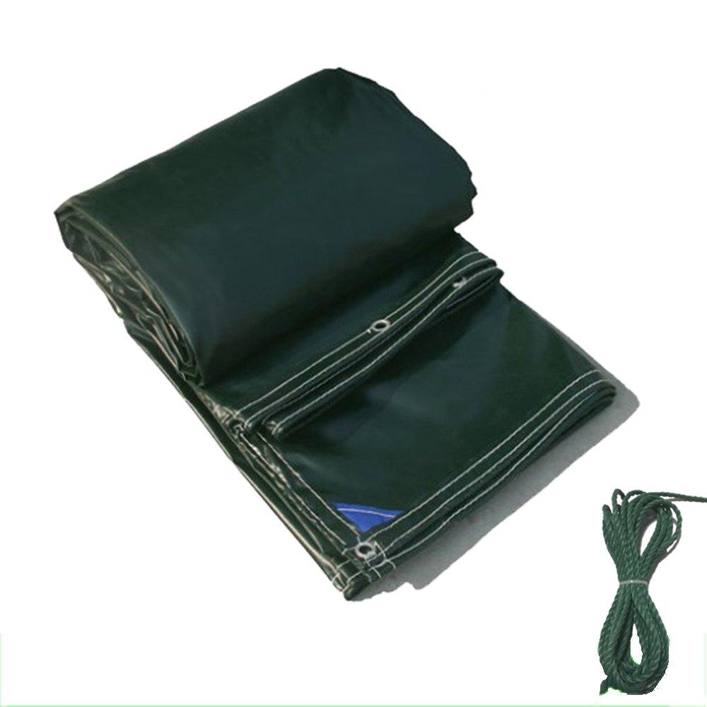 LQQGXL 厚手のPVC防水日焼け止めキャンバスのターポリントラックのターポリン多機能日除け布、緑 防水シート (色 : Green, サイズ さいず : 5 * 8m) 5*8m Green B07JCB5TJ8