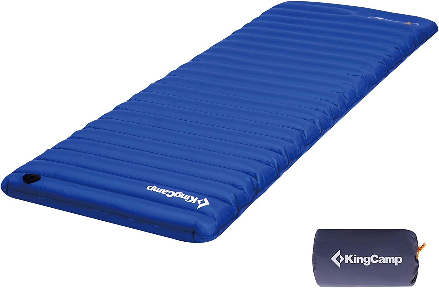 Kingcamp Single Double Air Mattress Camping With Integrated Air Pump Sport Freizeit