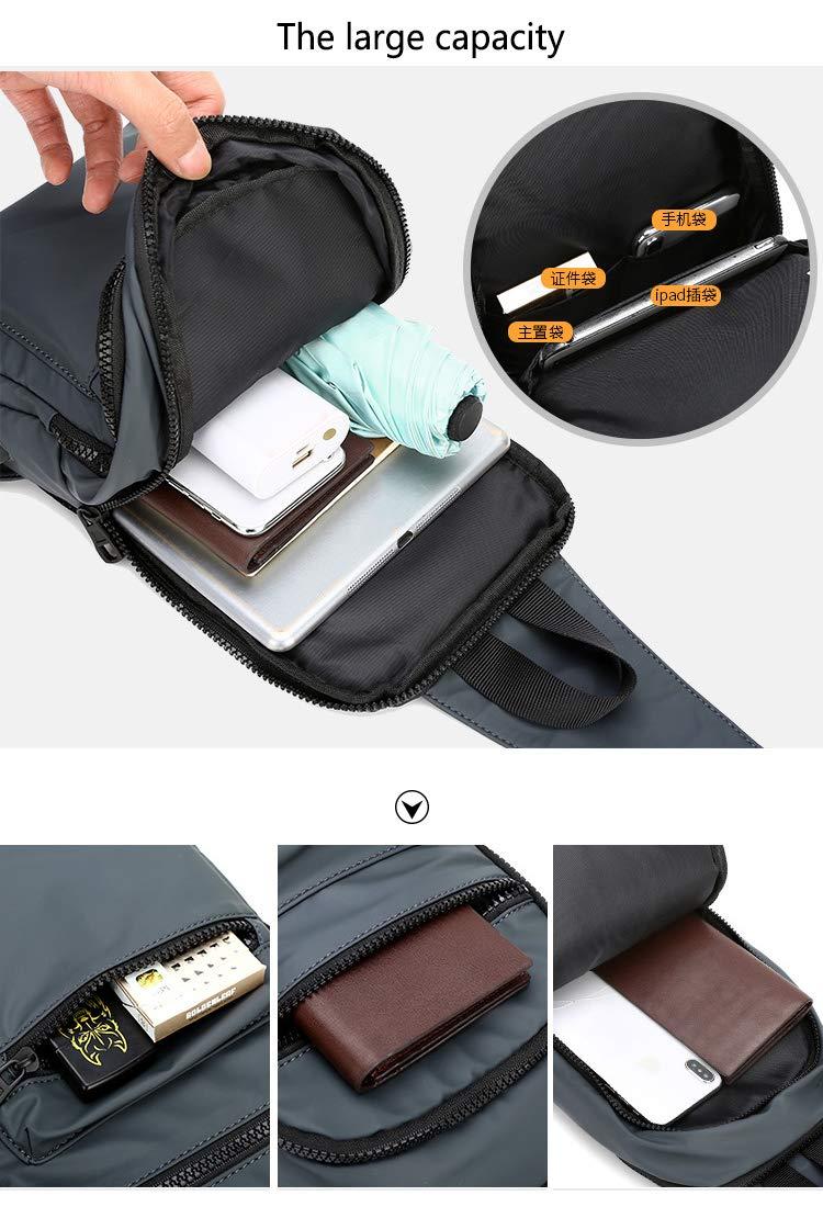 Jackcer 2019 Herren Umhängetaschen Umhängetaschen mit USB