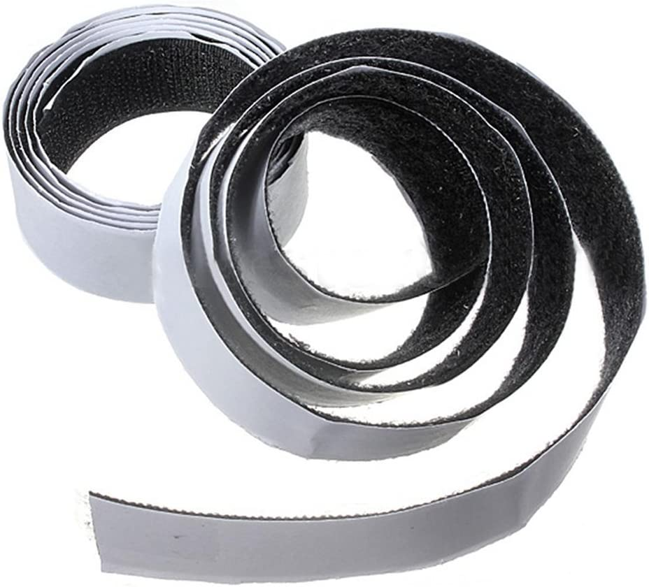 Black,20mm PF 1m x20mm Self Adhesive Sticky Hook And Loop Roll Strap Fastener