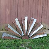 48'' Metal Half Windmill Lawn Sculpture Yard Art Garden Ornament Outdoor Decor