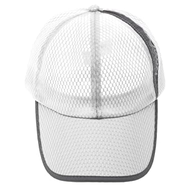 Imported Summer Men and Women Breathable Mesh Hat Sports Casual Baseball Cap  White 17af56839281