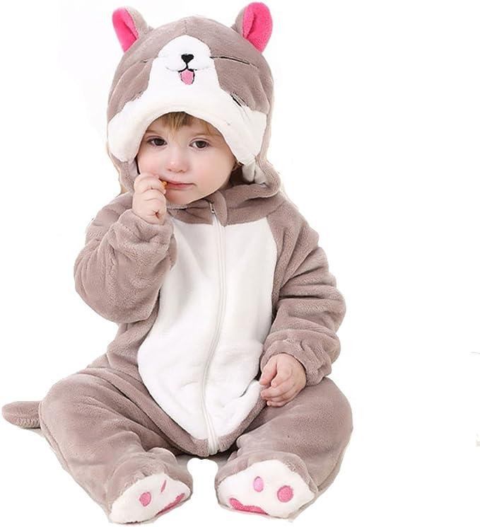 Amazon.com: BabyPoem - Traje de pijama unisex de franela ...