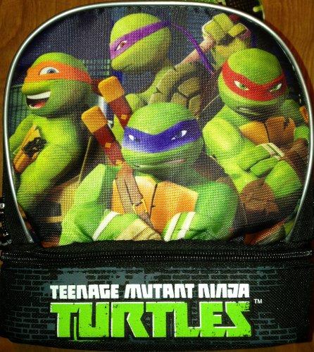 [Teenage Mutant Ninja Turtles Dual Compartment Lunch Box / Tote] (Ninja Turtle Kids)