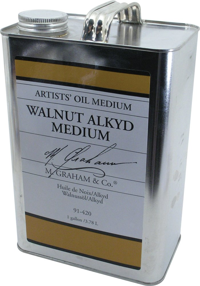 M. Graham 128-Ounce Walnut/Alkyd Medium by M. Graham & Co. (Image #1)