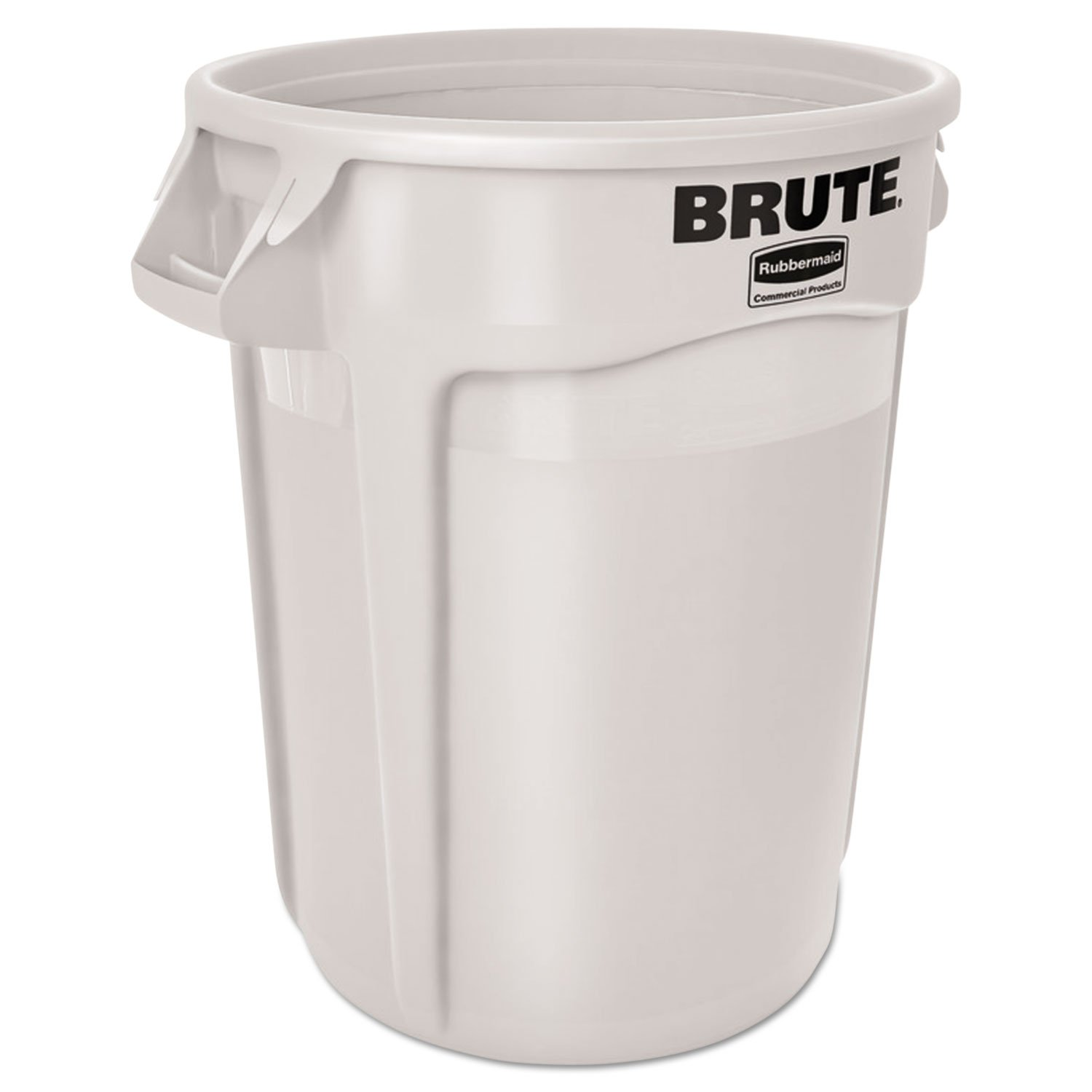 Rubbermaid Commercial BRUTE Trash Can, 32 Gallon, White, FG263200WHT