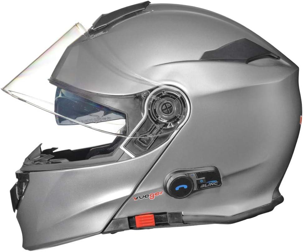 Farbe:Matt Wei/ß Gr/ö/ße:XS RS-983 Bluetooth Klapphelm Motorradhelm Conzept Motorrad Modular Helm rueger 53-54