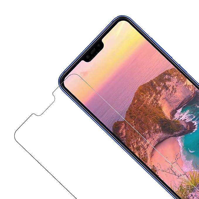 Vkaiy Protector de Pantalla para Xiaomi MI 8 Lite, [2 Unidades] [9H Dureza] [2.5D] Cristal Templado Vidrio Templado para Xiaomi MI 8 Lite