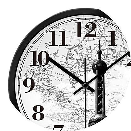 CHLWW Reloj De Pared Reloj De Los Relojes Modernos De Dibujo Creativo Ronda Reloj De Cuarzo