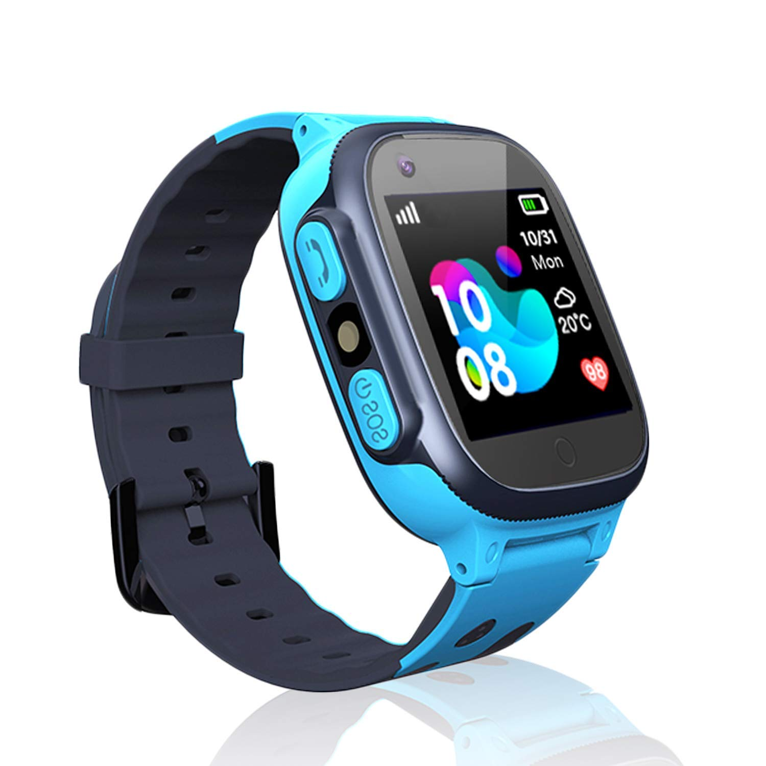 Kids smartwatch Phone Watches for Children with LBS Tracker sim Card Anti-Lost sos Call Boys and Girls Birthday Compatible Android iOS Touch Screen ...