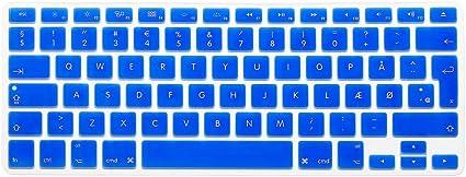 Norwegian Version Silicone EU Keyboard Protector Stickers Skin for MacBook Pro 13 15 17 Retina Mac Air 13 Keyboard Cover,Pink