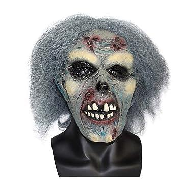Máscara YN Halloween Ball Horror Mask Zombie Zombie Party Decoración Props Película Performance Toy Latex Head