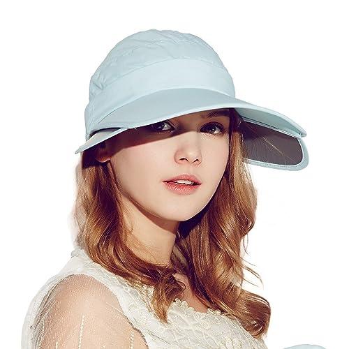 Kenmont mujeres del verano de la señora ultravioleta del sombrero del sol en bicicleta al aire libre...