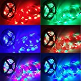 jiguoor Waterproof Flexible LED Strip Light with 24 Keys IR Remote,10M 3528 RGB 300 LEDsStrip Light + Power Adapter DC12V Control great for Holiday Party Home Decoration