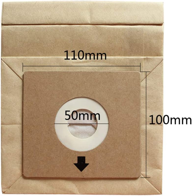 Format de Rechange Premium pour Carton 10 x 11 cm Sac en Papier pour aspirateur smallJUN Sac en Papier pour aspirateur Couleur Bois Sac pour la Collecte de la poussi/ère