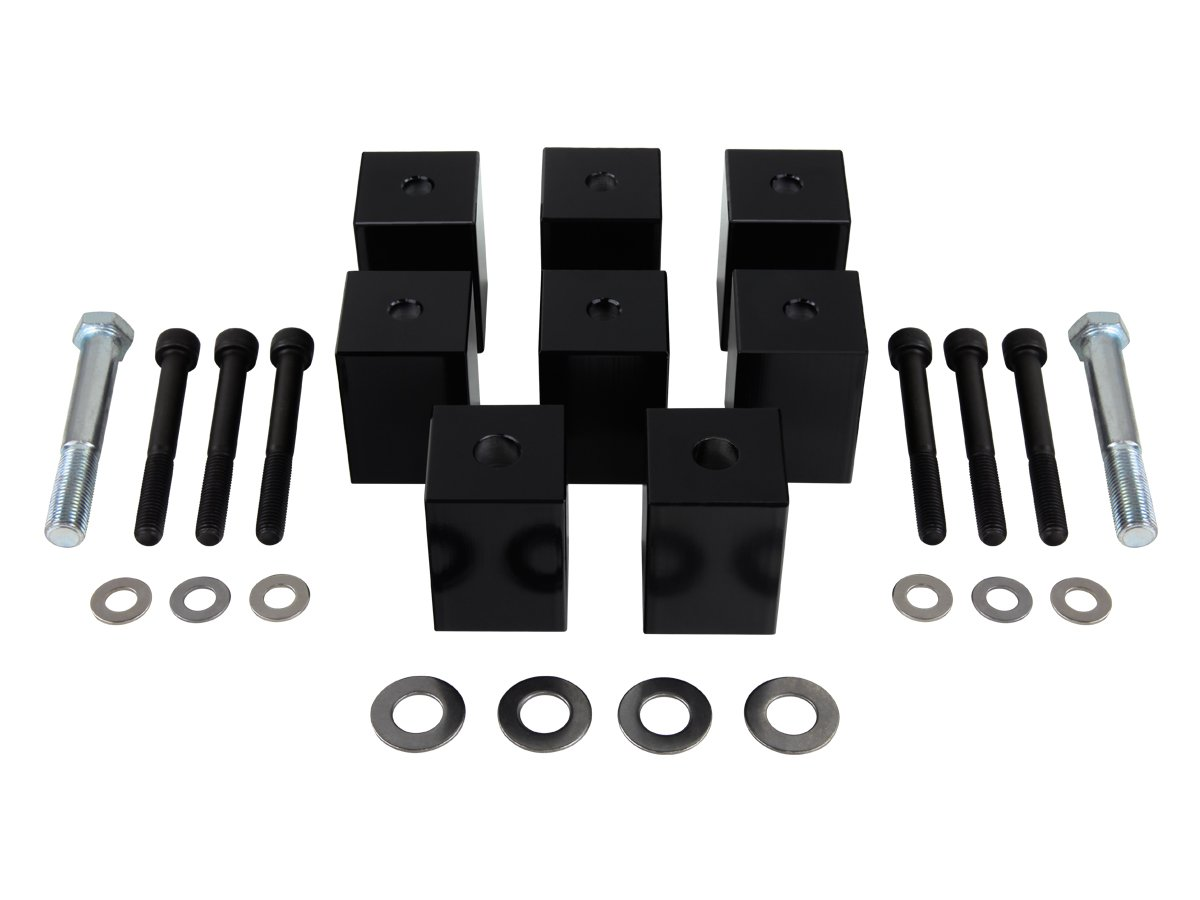 Black Supreme Suspensions Driver and Passenger Seat Risers for 1997-2006 Jeep Wrangler TJ 1.5 Seat Riser Kit 2WD 4WD