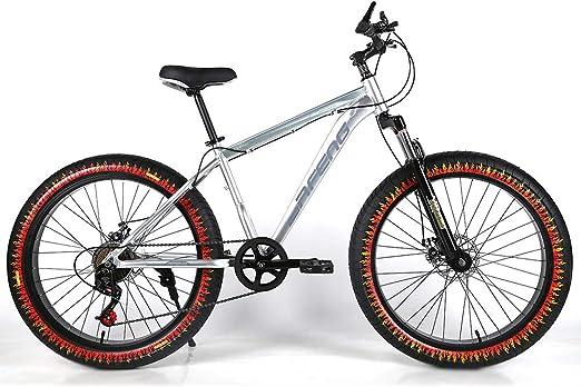 YOUSR Bicicleta de montaña para niños Suspensión Completa de 24 ...