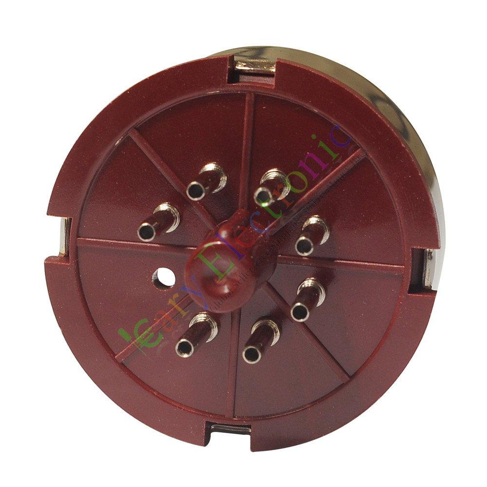 Cayyi 2pc 7Pin Red Bakelite Vacuum Tube sockets Saver base HIFI audio amplifier radio