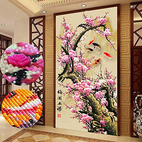 Trayosin Large 5D Diamond Painting Kits for Adults Full Drill 20×39.4Inch /50x100CM Crystal Embroidery Cross Stitch Home…
