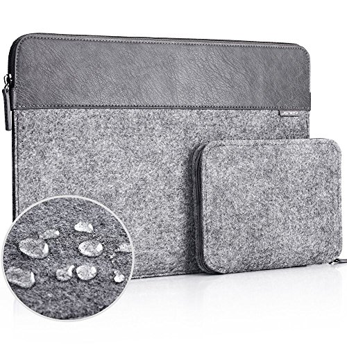 JSVER 13 Inch Laptop Sleeve Waterproof Felt for MacBook Air/
