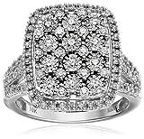 10k White Gold Diamond Ring (1 cttw, H-I Color, I2-I3 Clarity), Size 7