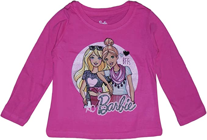 Barbie Camiseta De Algodón para Niñas (7 Años): Amazon.es: Ropa y ...