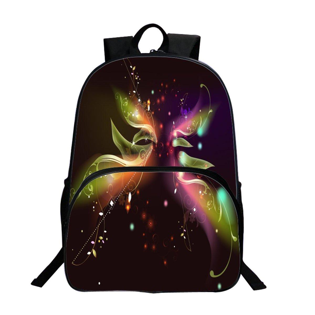Sac à dos Sac de Loisirs Unisexe Univers Mode Sacs Bandoulière Galaxy 3D Peinture Textile Sacs à Dos Voyage a étudiant Bleu (Elfes) Trinny