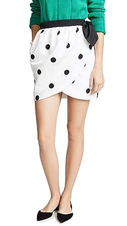 1d8b7ba09 Amazon.com: Cynthia Rowley Women's Polka Dot Tulip Wrap Skirt, Black ...