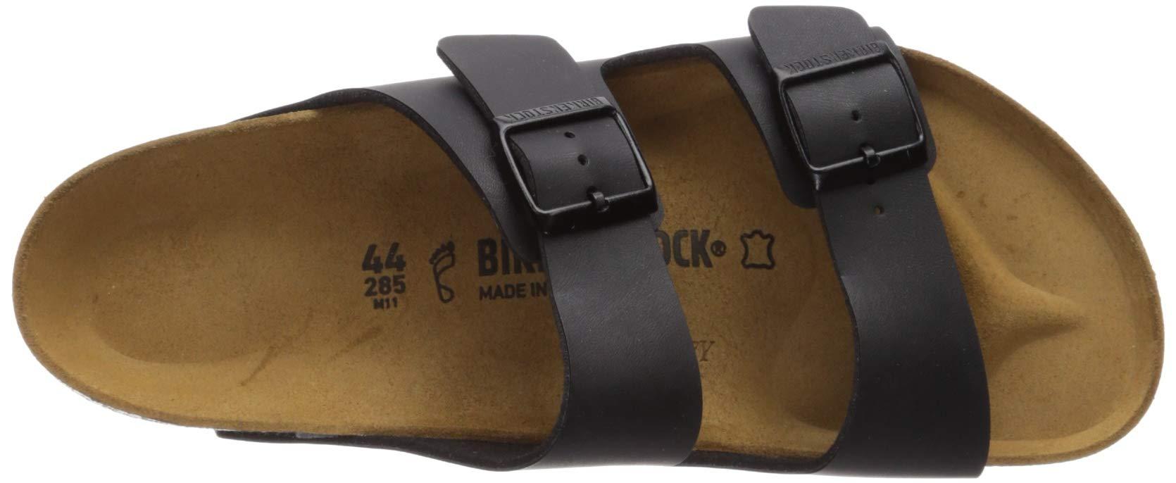 Birkenstock Unisex Arizona Black Birko-flor Sandals - 11-11.5 B(M) US Men by Birkenstock