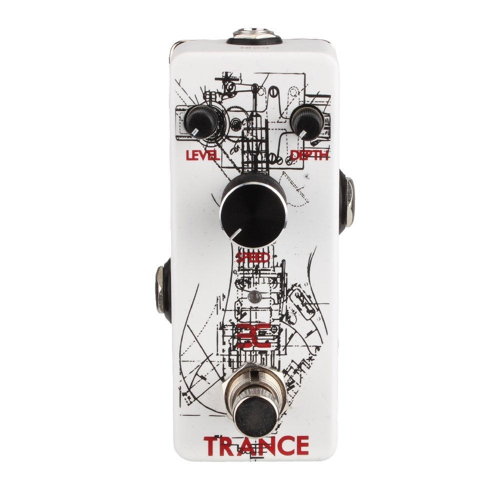EX-Trance Tremolo Pedal Mini Tremolo Guitar Pedal Delivers Classic Amp Sounding Tremolo from Subtle Flutters to Deep Pulses Perfect for Surf Rock or Gunfights by EX