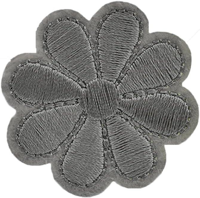 Parche bordado para coser o planchar con diseño de flores, bordado ...