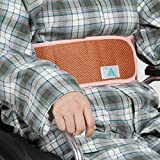 LUCKYYAN Elderly Belt Constrained Bands , Wheelchair Seat Safety Belt , Mesh Breathable Washable , Orange , m